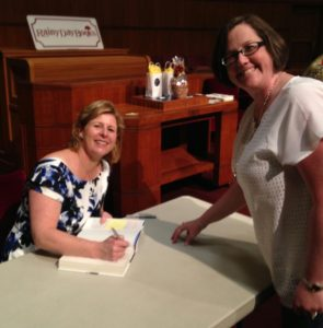 Mirah gets a book signed by Liane Moriarty